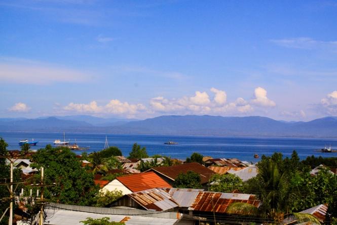 Seram dilihat dari Masohi, ibukota kabupaten Maluku Tengah.